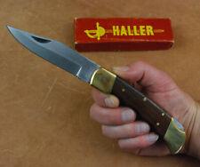 Kräftiges Taschenmesser mit Fingermulden im Buck-Style old school Biker Messer
