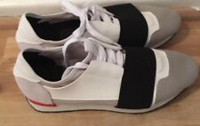 Para Hombres Zapatos Estilo Balenciaga Runner Talla 42 Size UK 8 Blanco Gris