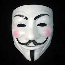 New V for Vendetta Mask Anonymous Guy Fawkes Fancy Dress Adult Costume cosplay.