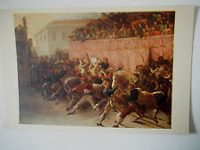 Riderless Racers at Rome Old Postcard Print Artist Theodore Gericault French