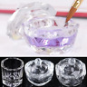 Crystal Glass Dish Cup Nail Art Acrylic Cosmetic For Liquid Powder Gadget HA2Z