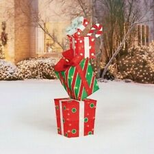 Holiday Time Lighted Stacked Giftboxes 48