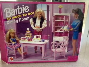 Vintage 90s Barbie So Much To Do - Dining Room- W/BOX RARE