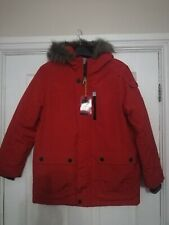 BOYS RED HOODED WINTER COAT FROM NEXT AGE 11 YEARS BRAND NEW WITH TAGS.