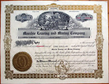1906 Stock Certificate: Murchie Leasing & Mining Co. - Arizona/San Francisco, CA