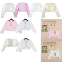 Kid Baby Girl Bolero Jacket Shrug Short Cardigan Wedding Party Flower Girl Dress