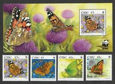Ireland-Butterflies min sheet and set 2005 mnh