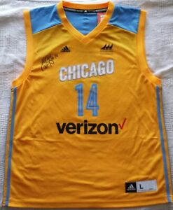 2016 Chicago Sky Allie Quigley Signed Jersey Size L