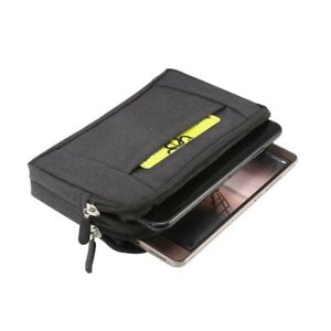 for General Mobile Discovery Quadro 4 Multipurpose Horizontal Belt Case Jeans