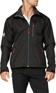 Helly Hansen Jacket Crew Midlayer Fleece Lined Waterproof Jacket Navy (Medium)