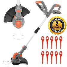 More details for electric battery cordless strimmer 20v garden edger grass trimmer cutter