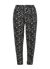 Evans Black Printed Tapered Jersey Trousers - BNWT - Plus size 26/28