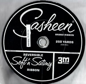 250 Yard Roll Sasheen 3M Satiny 7/8 Ribbon Wedding Party Orange  Dark Choc Brown