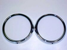 Fiat 124 Spider Headlamp Door Surround Trim Bezel Ring_Pair_Coupe_Spider_GENUINE