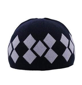 Modefa Turkish Islamic Men's Argyle Kufi Takke Skull Cap Prayer Hat