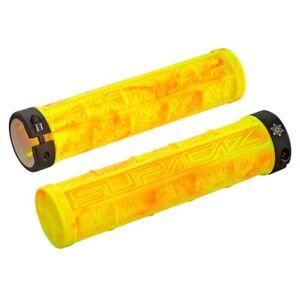 SupaCaz Grizips Splash Handlebar Grips - Lock On - Lightweight - Neon Yellow/Red