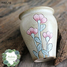 Sale!!Elegant Vintage Ceramic Pots with hand engraved flowers/Large Size Planter