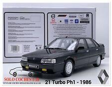 1:18 Renault 21 Turbo Ph1 año 1986 color Negro Otto Mobile OT798