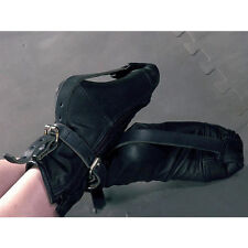Black Restraint boots, Arm Binder, Sissy maid, UK Post