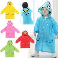 Cute Boy Girl Funny Raincoat Children Cartoon Rain Coat Kids Rainwear Waterproof