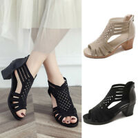 Ladies Spring Summer Women Crystal Sandals Fashion Fish Mouth Hollow Roma Shoes