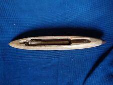 navette en bois castelin metier tisser filage canette soie coton 40 cm vintage