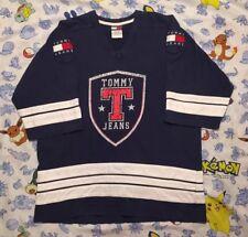 Vintage Tommy Hilfiger Hockey Jersey Patch Men's Medium Rare Stadium Polo 1992