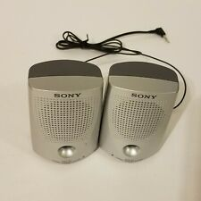 Sony SRS-P7 Computer Speaker System Portable Wired Silver Stereo Speakers