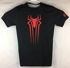 Under Armour Alter Ego Spiderman Compression Shirt Mens Large Black UA  Marvel