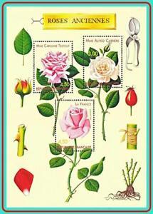 FRANCE 1999 ROSES S/S MNH FLOWERS CV$6.00