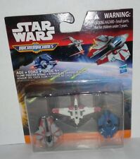 Star Wars Revenge Of The Sith Micro Machines 3-Pack Clone Fighter Strike New