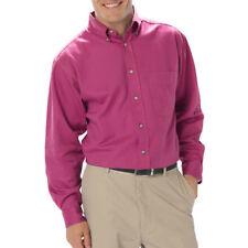 Camicie casual e maglie da uomo rosa con colletto regolare