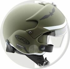 OPEN FACE SCOOTER HELMET OSBE GPA AIRCRAFT TORNADO GREEN ARMY XS 53-54 cm