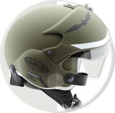 OPEN FACE SCOOTER HELMET OSBE GPA AIRCRAFT TORNADO GREEN ARMY XS 53-54 cm