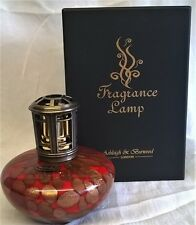 ASHLEIGH & BURWOOD RED & GOLD ART GLASS FRAGRANCE LAMP IMPERIAL TREASURE PFL154