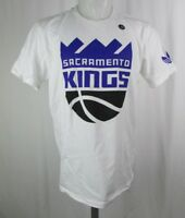 Sacramento Kings Men's Big Logo Graphic T-Shirt NBA adidas White Size M-2XL
