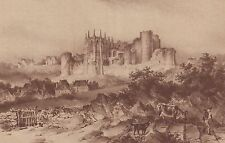 G2000 France - Ruines du chateau de Bourbon-l'Archambault - 1936 vintage print