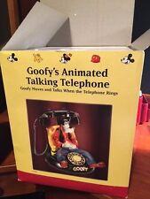 Vintage Walt Disney Telemania Goofy Animated Talking Corded Telephone Phone NIB