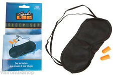 TRAVEL SLEEP SET EYE MASK AND EAR PLUGS IDEAL FOR AIR SEA OR TRAIN TRAVEL