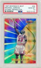 1997 Bowman's Best Atomic Refractor #96 Michael Jordan PSA 10 high end POP 21