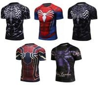 Men's Marvel Superhero T-Shirts Compression Spandex Workout Dri-fit Cosplay Tees