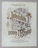 ANCIENNE PARTITION - INVOCATION POUR PIANO - EDOUARD BERNARD - SCHOTT *