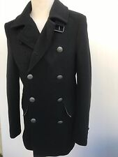 L@@K TED BAKER SIZE 2 JACKET MENS SMALL FITTED BLACK WOOL/CASHMERE COAT 38""
