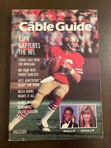 Vintage Paragon Cable TV Guide August 1987 - NFL Joe Montana