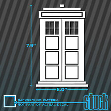 Doctor Who Tardis - vinyl decal sticker bumper car window laptop computer wall