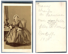 Disdéri, Madame Nancy de Lahnurien née Lahalle CDV vintage albumen carte de visi