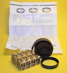 Nikon Close-Up No. 2  Attachment Lens MINT w/Leather Case, Box and Instructions!