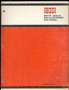 1971 J I CASE PARTS CATALOG  MODEL 680 CK SERIES B TRACTOR / LOADER  & BACKHOE