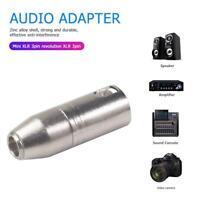 Mini XLR 3 Pin Male to XLR 3 Pin Male Audio Microphone Connector Adapter Kits US