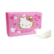 Hello Kitty White Natural Cotton Pads 80sheets Makeup Cleansing HK009